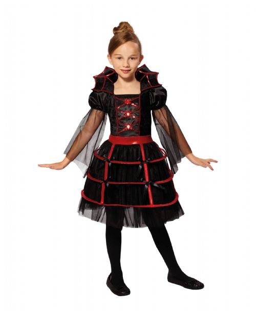 Childrens Vampire Cutie Costume Dracula Vamp Halloween Fancy Dress Outfit